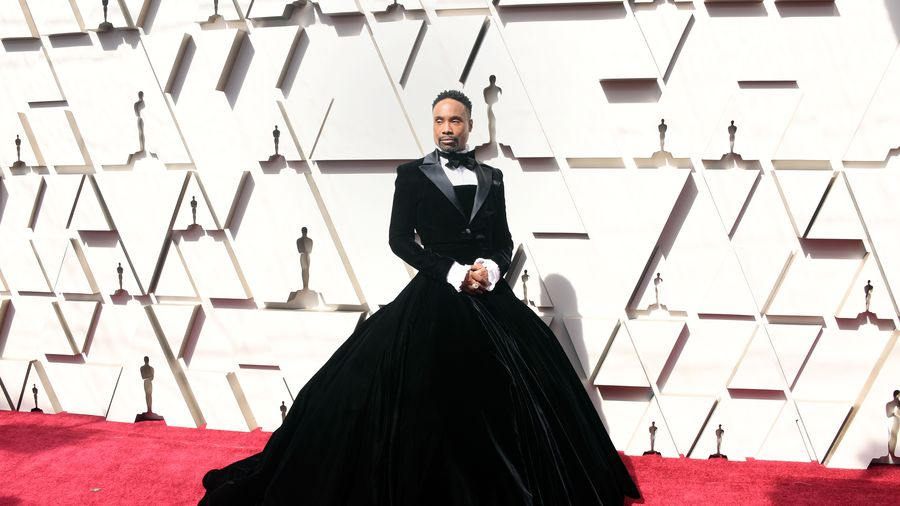 Yes he's gay, but damn! Why such a dress?