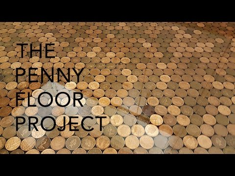 Is it creative? A floor made with 27,000 pennies