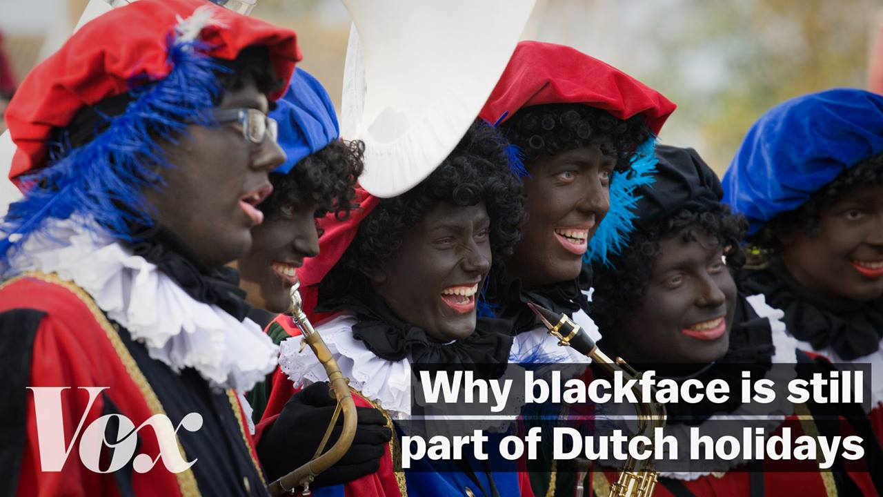 The old 'christmas blackface' festival continues in Belgium despite protests
